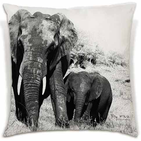 Soft and beautiful. these cushions celebrate the Big 5 in all their glory. | R340 - R380