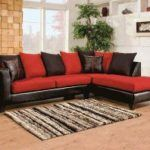black and red sectional