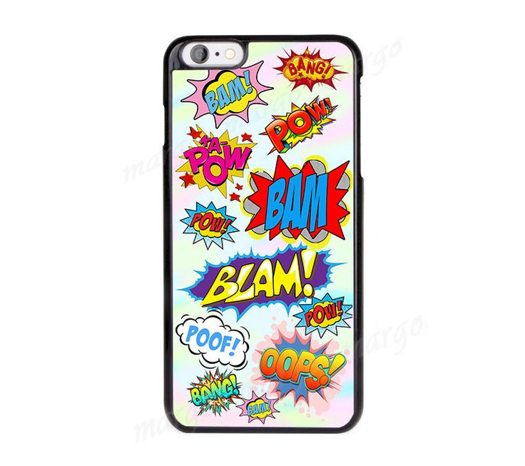 Designer Sticker Boom Pow, Oops,Colorful Case Cover for iPhone,iPod,Samsung,Sony in Mobile Phones & Communication, Mobile Phone & PDA Accessories, Cases & Covers | eBay!