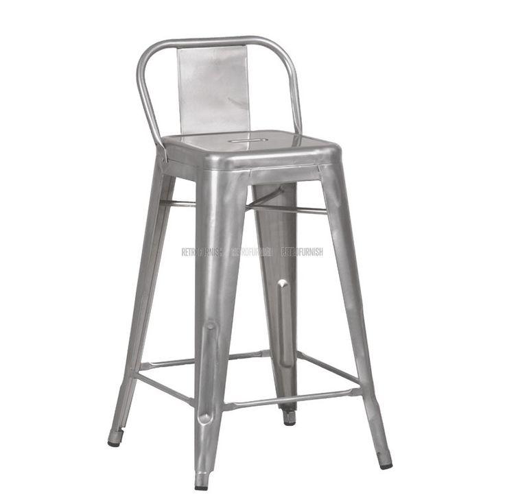 Retro Cafe Bar stool A High Red