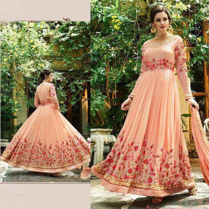 Ethnic Indian Anarkali Bollywood Pakistani Salwar Kameez Gown Style Long Dress #Shoppingover #SalwarKameez #WeddingPartyWear