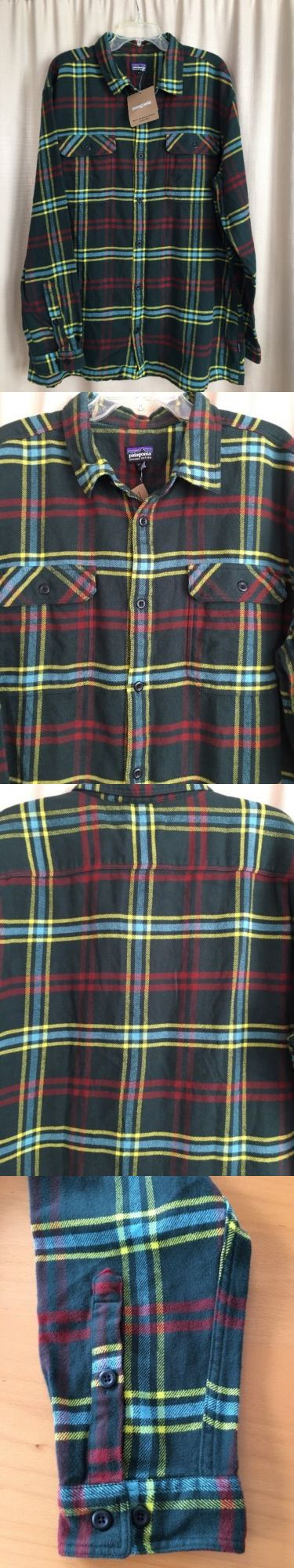 Casual Shirts 57990: New Patagonia Shirt Xxl 2Xl Men S Fjord Flannel Long Sleeve Green Plaid -> BUY IT NOW ONLY: $31.77 on eBay!