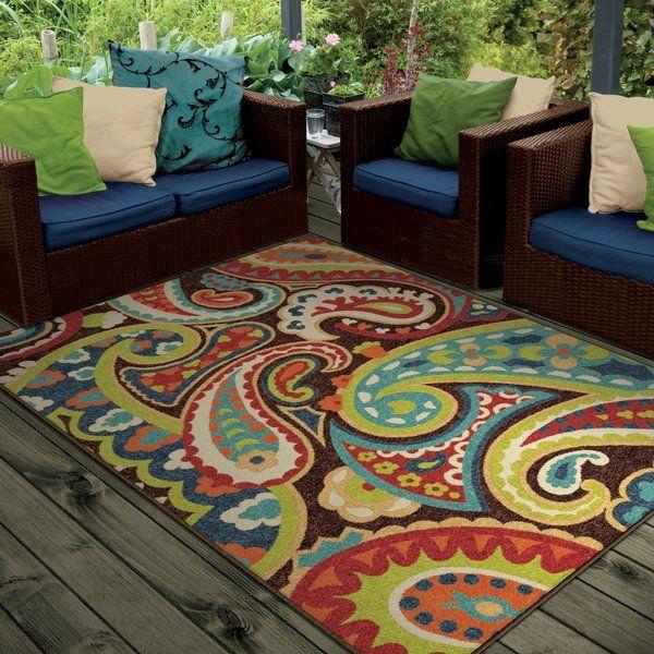 Margarita Paisley Green Indoor Outdoor Area Rug Patio Rugs Indoor Outdoor Rugs Outdoor Carpet