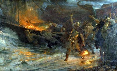 """""""The Funeral of a Viking"""" by Sir Frank Dicksee, 1893"""