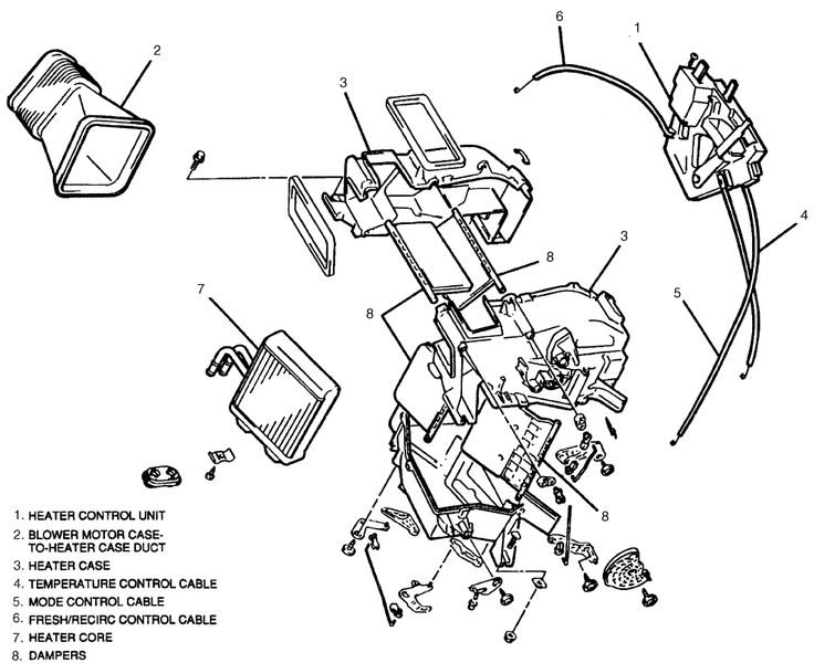 Suzuki Samurai Heater System Repair Guides Heating