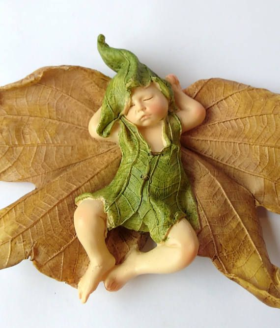 Baby Fairy Figurine, Fairy Baby, Miniature Fairy Baby