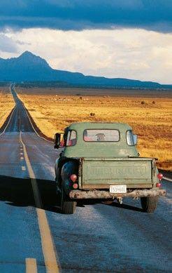 Back roads in my pickup truck..