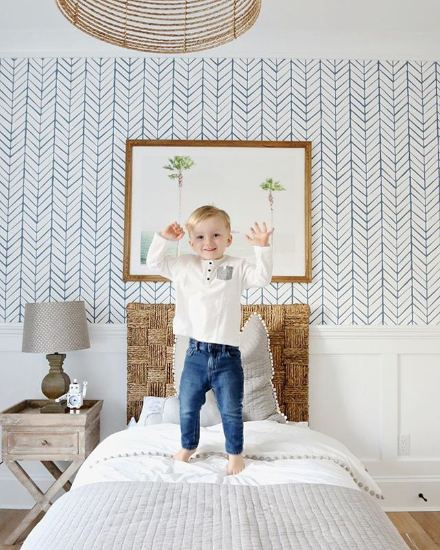Liam's pretty excited about his new piece of art above his bed! His room might be my favourite room in the house... I told him I'm moving in, and that I would take the window seat.  @liketoknow.it www.liketk.it/26Udq #liketkit #LTKhome #mintedart
