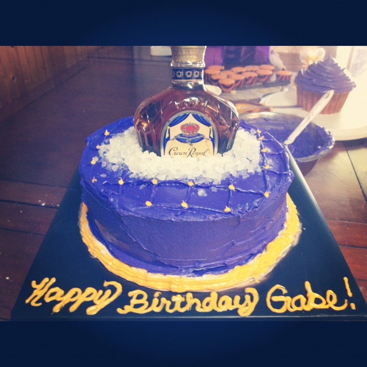 Cake With Crown Royal : Crown royal cake Cakes I ve made! Pinterest Crowns ...