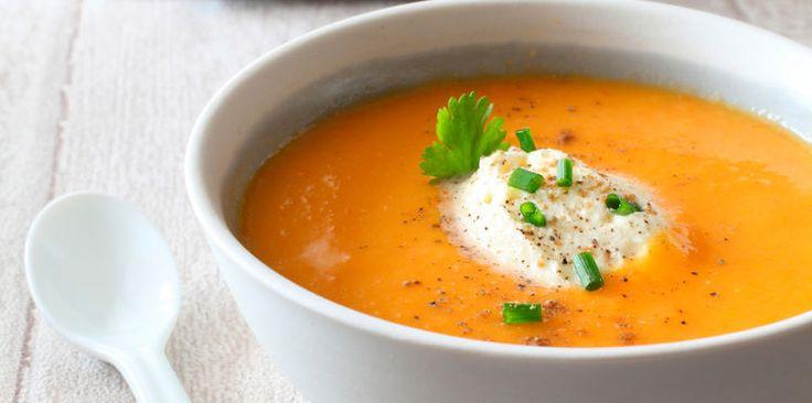 Soupe aux carottes et à la coriandre
