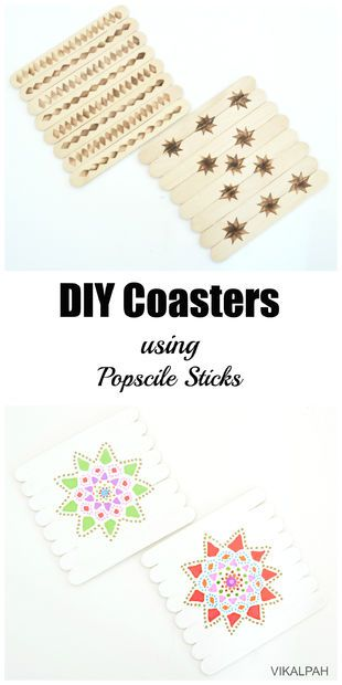 DIY Popsicle Stick Coasters - CT-NV