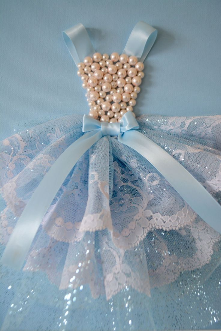 Princess Dress wall art in sky blue. 9X12 canvas. by FlorasShop on Etsy