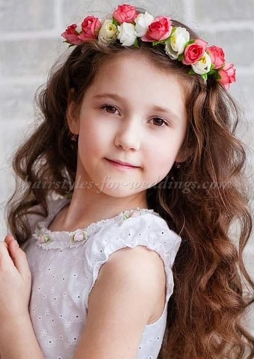 Flower Girl Hairstyles flower girls hairstyles for toddlers httphairstyleecomflower Flowergirl Hairstyle With Floral Halo