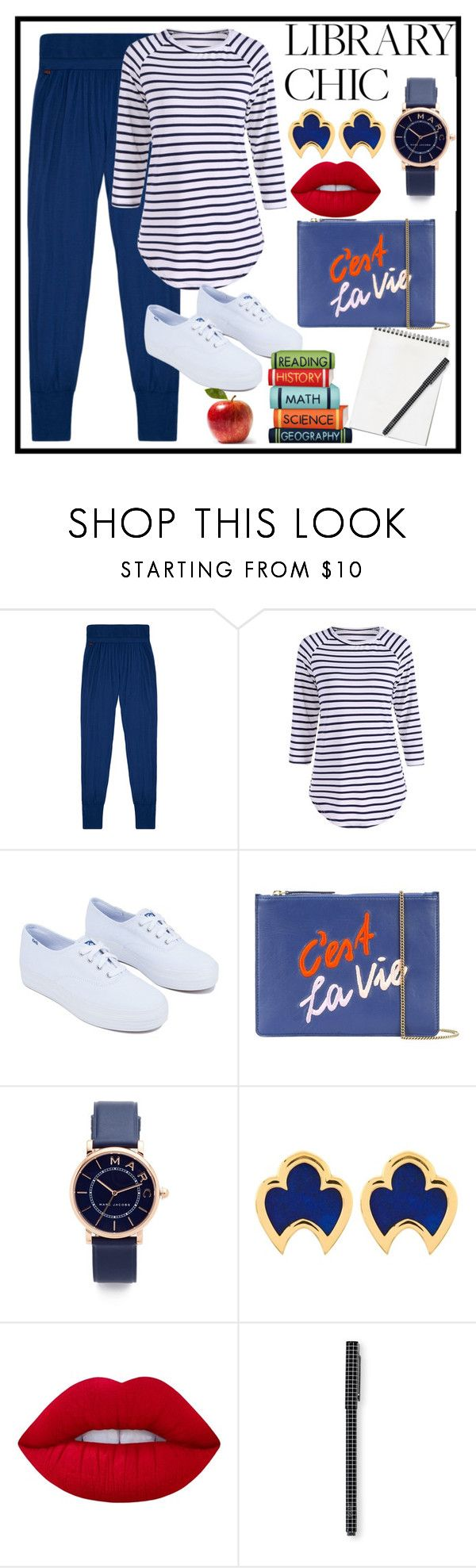 """""""Work Hard Play Hard: Finals Season"""" by terryandjim ❤ liked on Polyvore featuring Derek Rose, Keds, Lizzie Fortunato, Marc Jacobs, Château Euphorie, Lime Crime and finals"""
