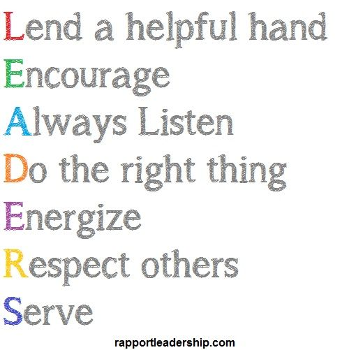 Leadership quote | Leaders – lend a helping hand, encourage, always listen, do the ...