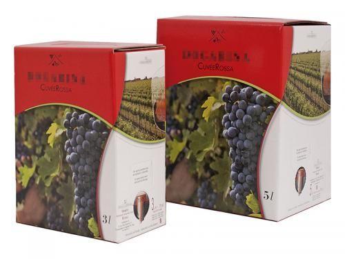 #Scatolificio Udinese - 5-colour printed #Bag in Box red #wine