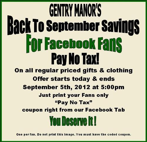 Starts today until Sept. 5th!