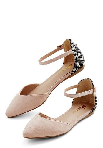 From Top to Toe Flat - Flat, Faux Leather, Woven, Cream, Black, White, Solid, Print, Daytime Party, Good