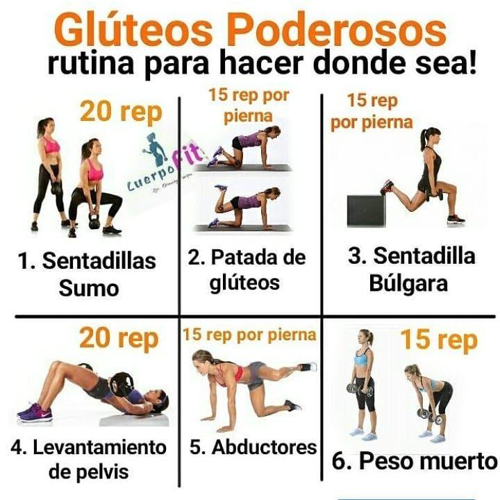 Rutina de piernas y gluteos para mujeres en el gym