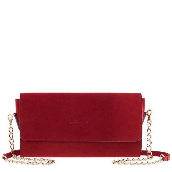 suede leather, zippered interior pocket, magnet closure, removable and adjustable shoulder strap, leather bags Remini CAM bordeaux leather bag, handbag, women,