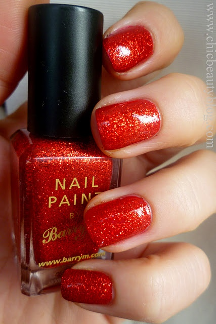 Red with gold flecks!