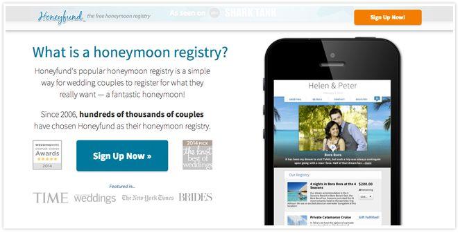 The 5 Best Online Wedding Registries  Honeyfund.com  Awesome registry for your honeymoon! Great idea!