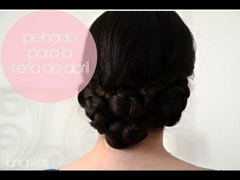 Peinado para la FERIA DE ABRIL; moño bajo con trenzas / ROMANTIC BRAIDED...