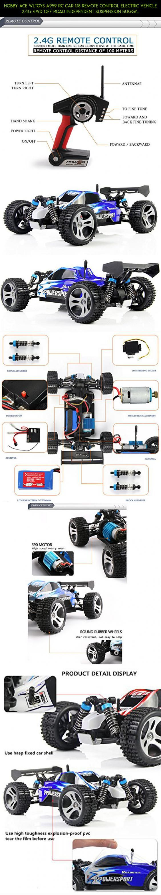 Hobby-Ace WLtoys A959 RC Car 1:18 Remote Control Electric Vehicle 2.4G 4WD Off Road Independent Suspension Buggy Radio Control RTR Blue #technology #camera #shopping #4wd #products #fpv #kit #gadgets #plans #parts #drone #racing #wltoys #tech