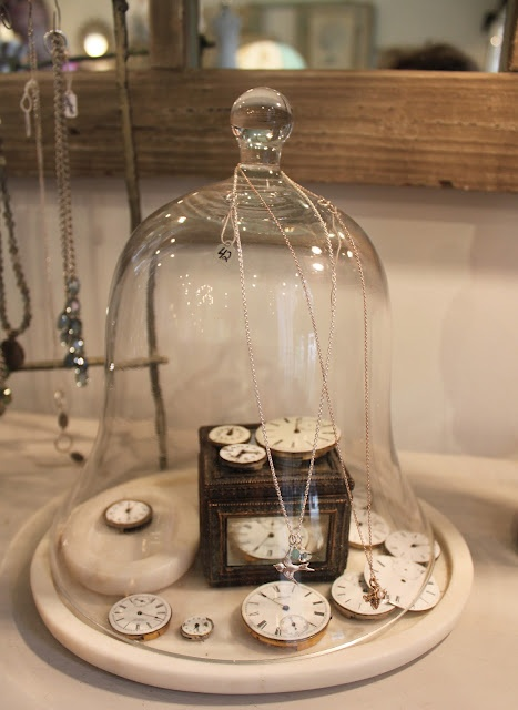 timeless treasures under a cloche