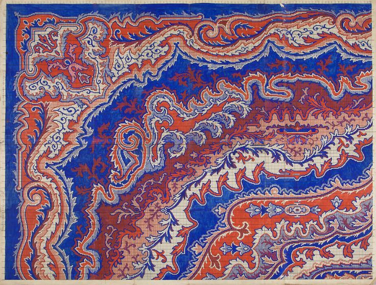 "Carpet Design ""Plastiek"" by Peters, Mechanische Tapijtweverij H.J., 1928. Deventer Musea, CC BY-SA"