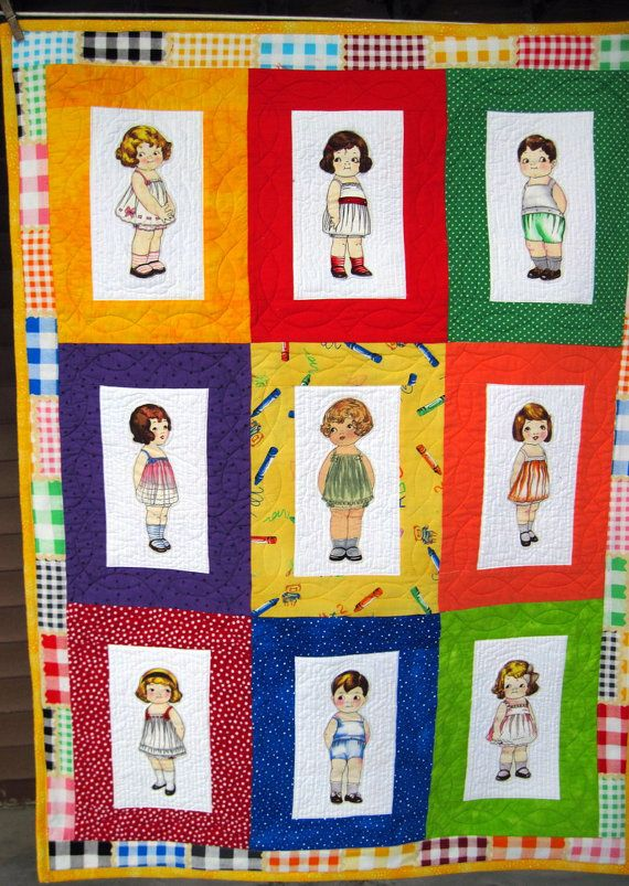 8 best paper doll fabric images on Pinterest   Play mats, Cribs ... : doll quilts for sale - Adamdwight.com