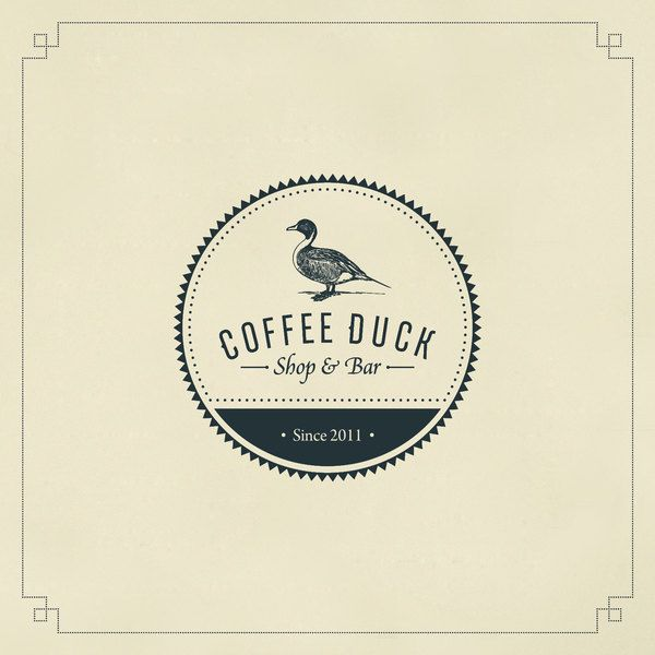 Coffee Duck Logo, font, branding by Multiple Owners.