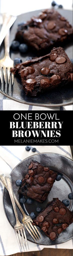These One Bowl Blueberry Brownies come together in one bowl, just as their name implies, making clean-up a breeze! A pint of blueberries is the secret ingredient to creating the most moist and decadent brownies that will ever cross your lips.