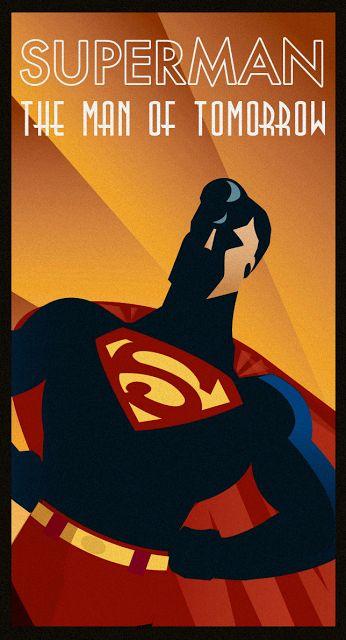 abbracadabbling: YGI Meets The Artisan: Superheroes Done Art Deco
