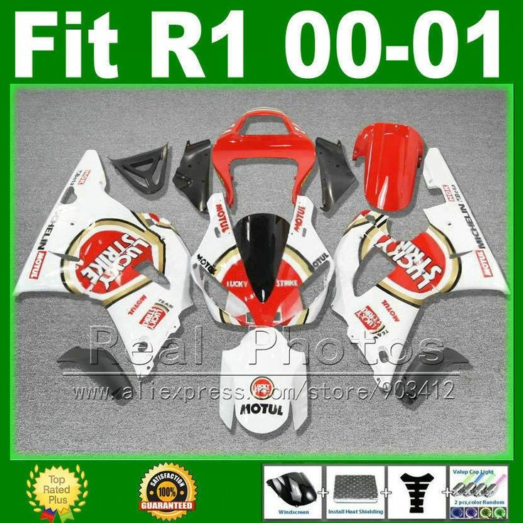 309.70$  Buy now - http://aliuyt.worldwells.pw/go.php?t=32286280238 - LUCKY STRIKE fairings for YAMAHA R1 2000 2001 cheap fairing kit YZFR1 00 01 1000 YZF-R1 bodywork kits plastic part