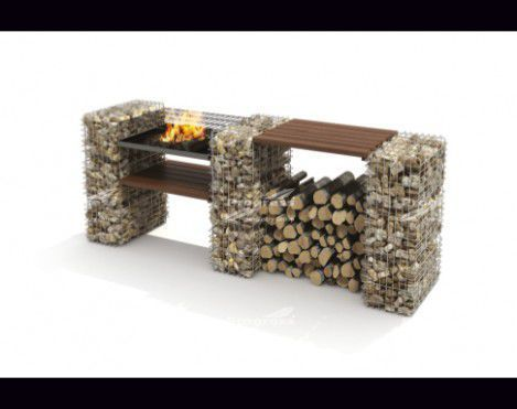 Rock Blocks are mini gabions which can easily be used for diverse DIY projects such as this wonderful BBQ.
