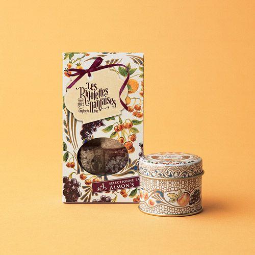 フランス・ロワール地方のナント市で100年以上前から続くキャンディの老舗。可愛いパッケージもプチギフトに最適。 「ボンボン・リゴレット」¥997(缶5粒入り) ¥525(袋5粒入り)/ともに LES RIGOLETTES NANTAISES(ディーン&デルーカ 六本木)