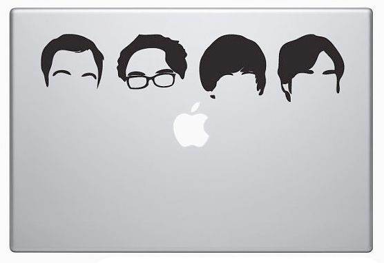 Big Bang Theory Laptop Decal