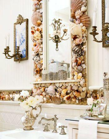 зеркало для ванны в морском стиле