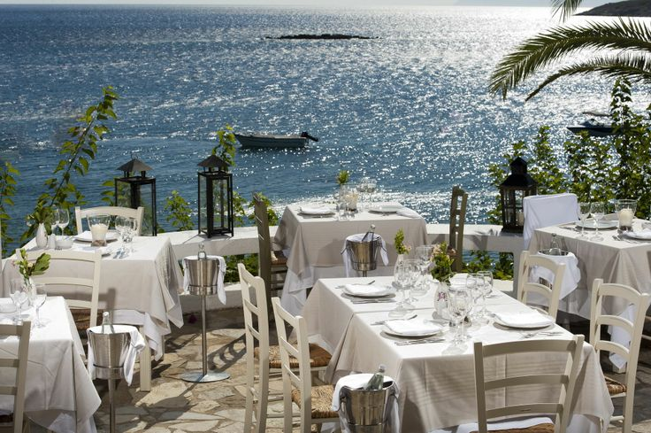 Dinner with wonderful sea view at Minos Palace!
