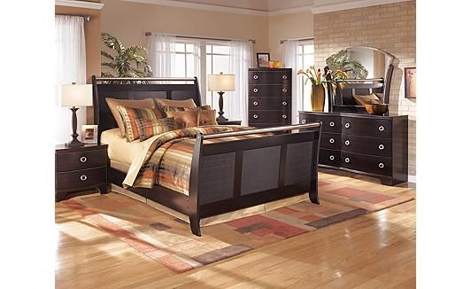 Pinella Sleigh Bedroom Set Ashley Furniture Dreamy Master Bedrooms Pinterest Bedrooms