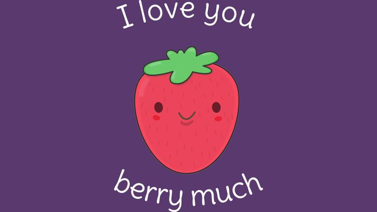 I Love You Berry Much. Cute and Kawaii Strawberry Pun for Valentines Day or any couple.