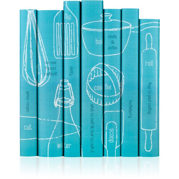 Juniper Books Contemporary Cookbook Book Set ($350) ❤ liked on Polyvore featuring home, kitchen & dining, cookbooks, blue and cook-book