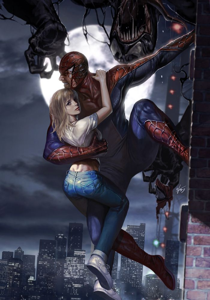Spider-Man and Mary Jane by In-Hyuk Lee