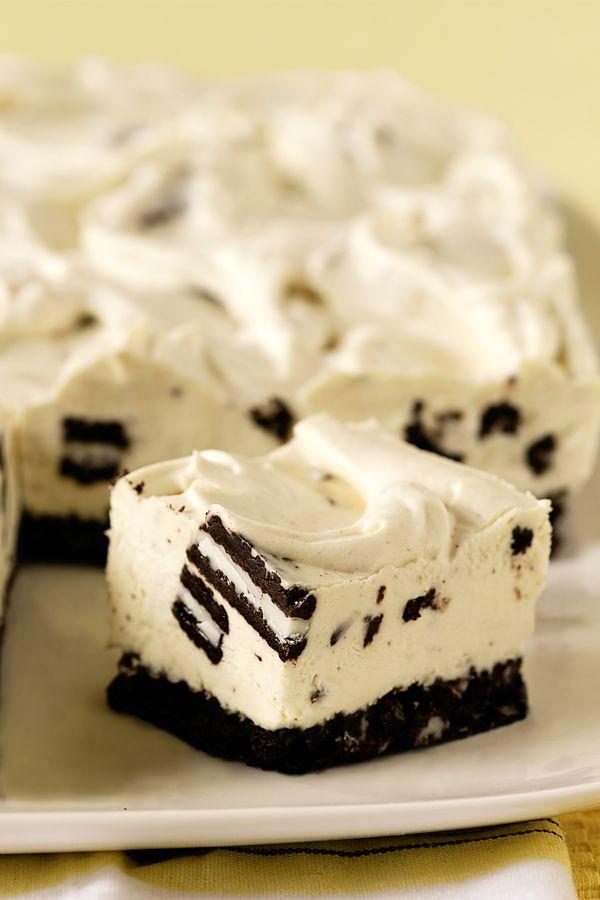 No-Bake Oreo Cheesecake. Yes, please! #dessert
