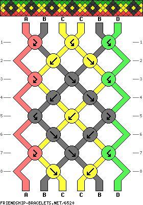 6 String Rasta Bracelet