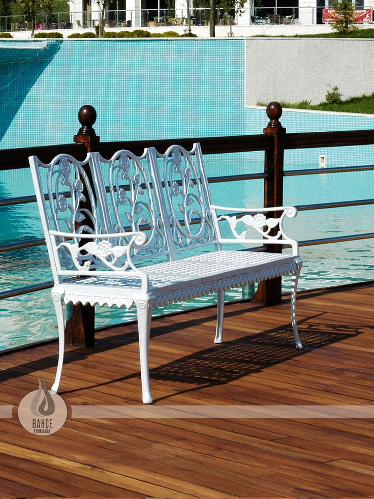 Dekoratif Döküm Bank ( Geniş oturum alanı ) - BA-2011