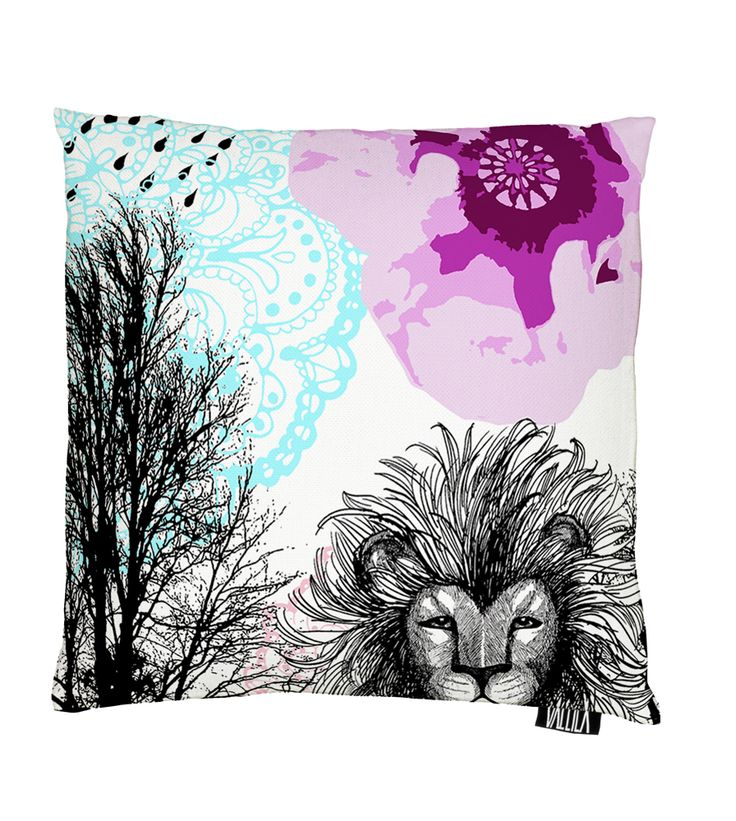 Vallila Interior AW14, Leijonapalmu cushion cover 43x43cm pink by Tanja Orsjoki