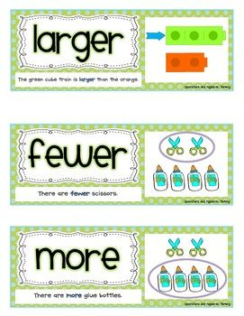 Common Core Math Vocabulary Cards {121 Word Wall Cards}