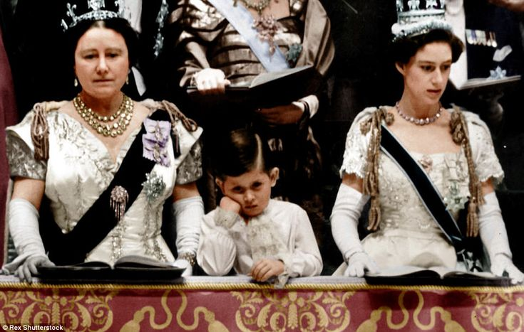 Prince Charles (middle) was just four years old when he was allowed to spend 20 minutes in...